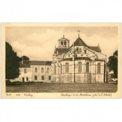 carte postale ancienne 89 VEZELAY. Basilique Madeleine Abside