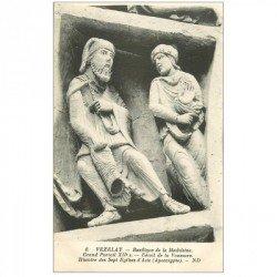 carte postale ancienne 89 VEZELAY. Basilique Portail Voussure. Sept Eglises Asie 6