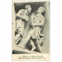 carte postale ancienne 89 VEZELAY. Basilique Portail. Sept Eglises Asie 5