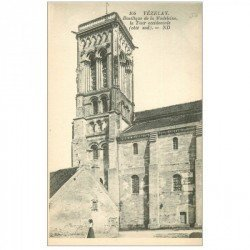 carte postale ancienne 89 VEZELAY. Basilique Tour occidentale