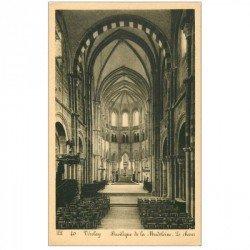 carte postale ancienne 89 VEZELAY. Eglise Madeleine le Choeur