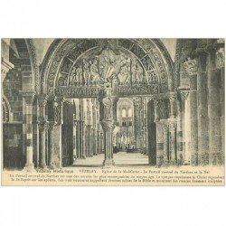 carte postale ancienne 89 VEZELAY. Eglise Madeleine Portail Narthex et Nef