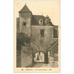 carte postale ancienne 89 VEZELAY. La Rue du Pontot