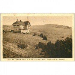 carte postale ancienne 90 BALLON D'ALSACE. Hôtel Stauffer et Sommet vers 1933