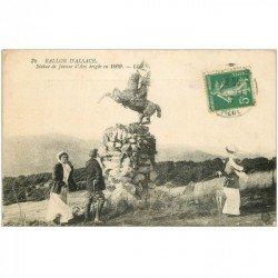 carte postale ancienne 90 BALLON D'ALSACE. Statue de Jeanne d'Arc 1915