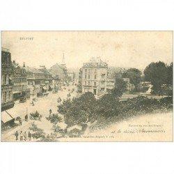 carte postale ancienne 90 BELFORT. Faubourg des Ancêtres 1902