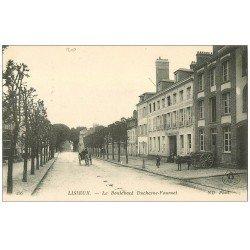 carte postale ancienne 14 LISIEUX. Gendarmerie Boulevard Duchesne-Fournet