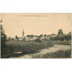 carte postale ancienne 90 DELLE. Vue générale à la Frontière Franco-Suisse 1918