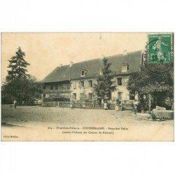 carte postale ancienne 90 FOUSSEMAGNE. Propriété Feltin ancien Château des Comtes de Reinach 1909
