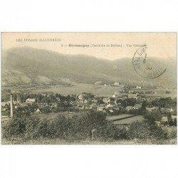 carte postale ancienne 90 GIROMAGNY. Le Village 1930. Timbre manquant