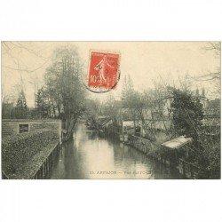 carte postale ancienne 91 ARPAJON. Vue sur l'Orge 1908