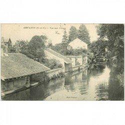 carte postale ancienne 91 ARPAJON. Vue sur l'Orge 1918