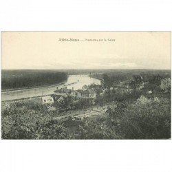 carte postale ancienne 91 ATHIS MONS. Panorama sur la Seine