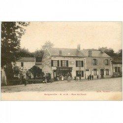 carte postale ancienne 91 BOIGNEVILLE. Mercerie Robert Rue du Pavé vers 1920