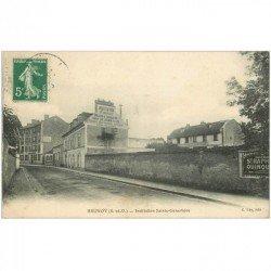 carte postale ancienne 91 BRUNOY. Institution Sainte Geneviève 1908 Maison éducation pour Jeunes Filles