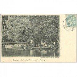 carte postale ancienne 91 BRUNOY. Le Canotage Les Vallées de Mandres vers 1905