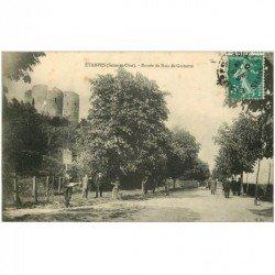 carte postale ancienne 91 ETAMPES. Entrée du Bois de Guinette 1910