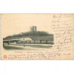 carte postale ancienne 91 ETAMPES. Guinette vue de la GARE 1903. Petit tassement côté droit