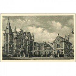 carte postale ancienne 91 ETAMPES. Hôtel de Ville animation . Rameau