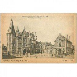 carte postale ancienne 91 ETAMPES. Hôtel de Ville historique