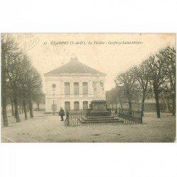 carte postale ancienne 91 ETAMPES. Le Théâtre Geoffroy Saint Hilaire 1904