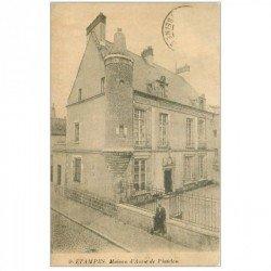 carte postale ancienne 91 ETAMPES. Maison Anne de Pisseleu. Timbre manquant