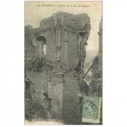 carte postale ancienne 91 ETAMPES. Tour de Guinette 1919