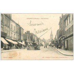 carte postale ancienne 14 LIVAROT. Rue d'Orbec 1916. Timbre manquant ?...