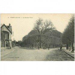 91 SAVIGNY-SUR-ORGE. Dirigeable PATRIE au dessus du Château 1907 Raid Chalais Fontainebleau. Zeppelin Ballon Avion