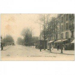 carte postale ancienne 93 AUBERVILLIERS. Magasin de Cartes Postales Avenue Victor Hugo 1915