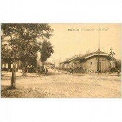 carte postale ancienne 93 BAGNOLET. Café Avenue Pasteur et Cité Jardins