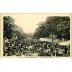 carte postale ancienne 93 MONTREUIL SOUS BOIS. Le Marché aux Puces vers Bagnolet