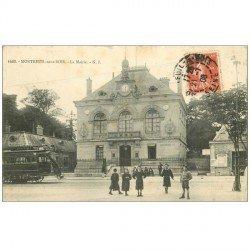 carte postale ancienne 93 MONTREUIL. La Mairie 1908