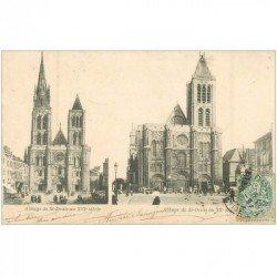carte postale ancienne 93 SAINT DENIS. La Basilique Abbaye 1903