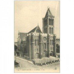 carte postale ancienne 93 SAINT DENIS. La Basilique Abbaye 90