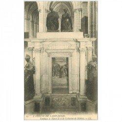 carte postale ancienne 93 SAINT DENIS. La Basilique Abbaye Tombeau Henri II et Médicis
