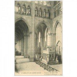 carte postale ancienne 93 SAINT DENIS. La Basilique Abbaye Tombeau Louis XII et Anne de Bretagne
