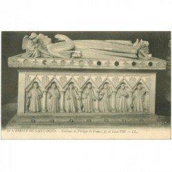 carte postale ancienne 93 SAINT DENIS. La Basilique Abbaye Tombeau Philippe de France 22