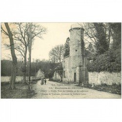 carte postale ancienne K. 91 JARCY. Vieille Tour de l'Abbaye 1912 où fut enfermée Jeanne de Toulouse Comtesse de Poitiers