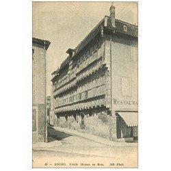 carte postale ancienne 01 BOURG. Vieille Maison en Bois et Restaurant