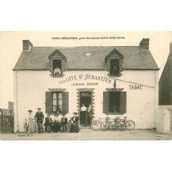 44 SAINT SEBASTIEN. Café Buvette à la Côte St Sébastien. Michelot débitant tabac avec Cyclistes