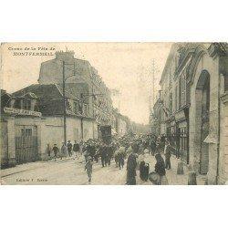 93 MONTFERMEIL. Ecole Jeanne d'Arc Corso de la Fête avec Fanfare et Procession 1917