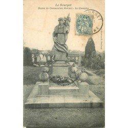 93 LE BOURGET. Statue du Commandant Rolland au Cimetière 1907