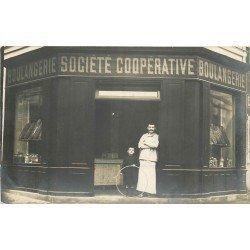 93 MONTREUIL-SOUS-BOIS. Boulangerie Société Coopérative. CPA Photo 29 rue Victor Hugo ou 47 rue de la Beaune... 1912