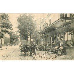 93 BAGNOLET. Attelage de livraisons devant la Buvette Civette Avenue Pasteur 1919