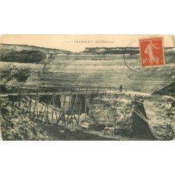 93 BAGNOLET. Les Plâtrières 1907 avec attelage
