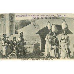 PALESTINE ISRAEL. Nazareth. Femmes Porteuses d'eau Puits de la Vierge