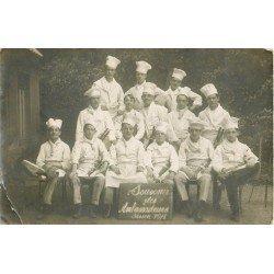 69 LYON. Le Personnel Cuisiniers du Restauant des Ambassadeurs. Rare Photo Carte Postale 1916