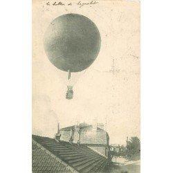 93 BAGNOLET. Le Ballon survolant la Mairie 1909. Mongolfière Aéroplane Transports
