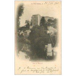 carte postale ancienne 02 LA FERTE-MILON. Transport de pierres Bras du Moulin 1902